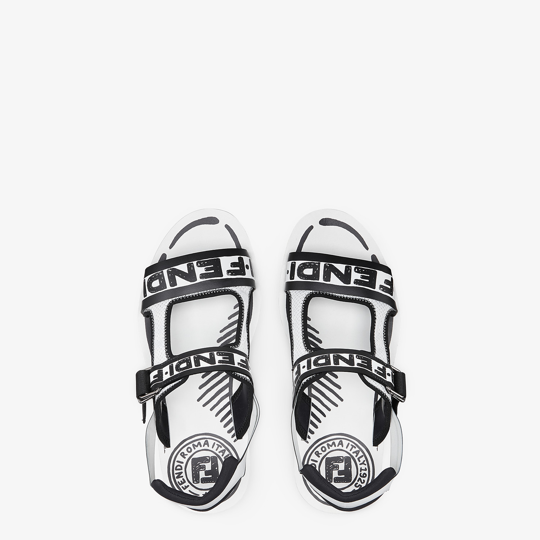 FENDI SANDALS - Fendi Roma Joshua Vides leather sandals - view 4 detail