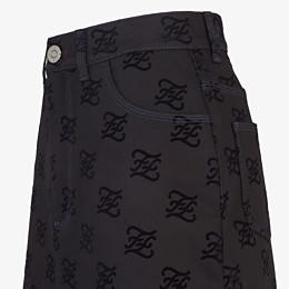 FENDI SKIRT - Black denim skirt - view 3 thumbnail