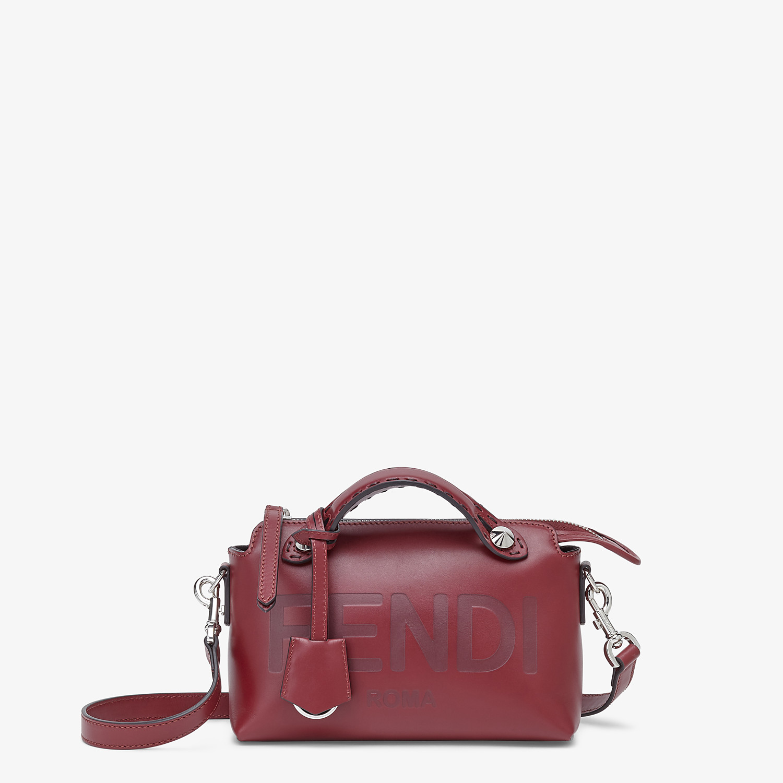 FENDI BY THE WAY MINI - Boston Bag aus Leder in Bordeaux - view 1 detail