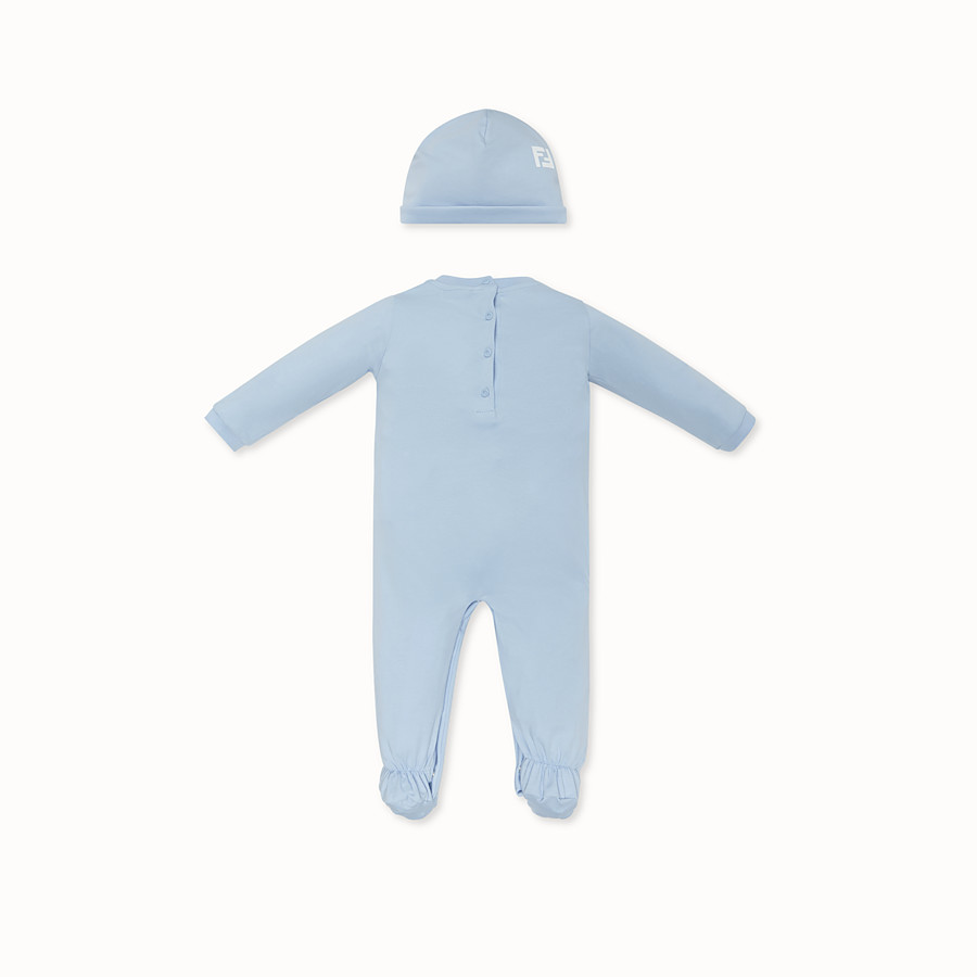 FENDI BABY KIT - Light blue jersey baby kit - view 2 detail