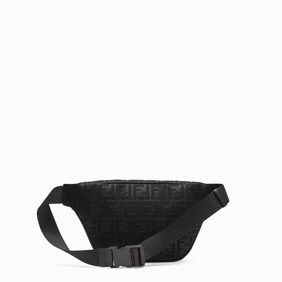 FENDI BELT BAG - Black tech fabric belt bag - view 3 detail