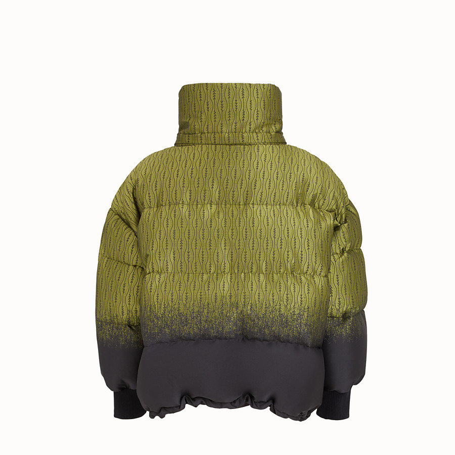 FENDI JACKET - Green nylon down jacket - view 2 detail