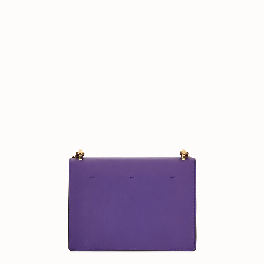 FENDI KAN U - Purple leather bag - view 3 detail