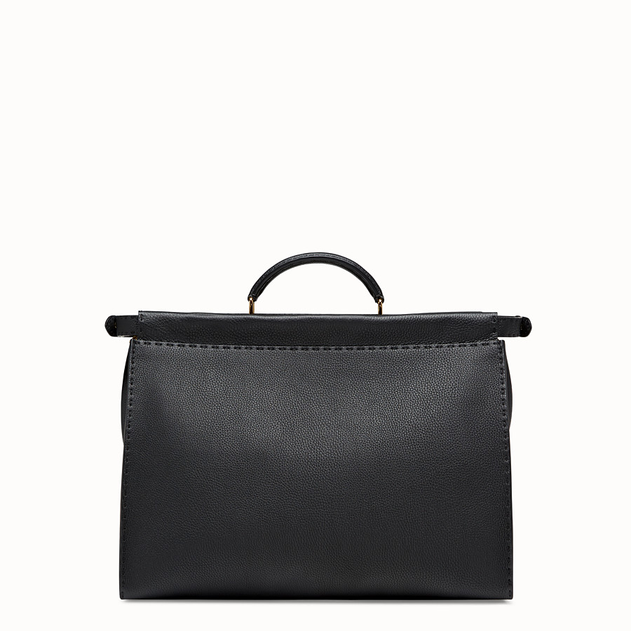 FENDI PEEKABOO REGULAR - Bolso de piel negra - view 3 detail
