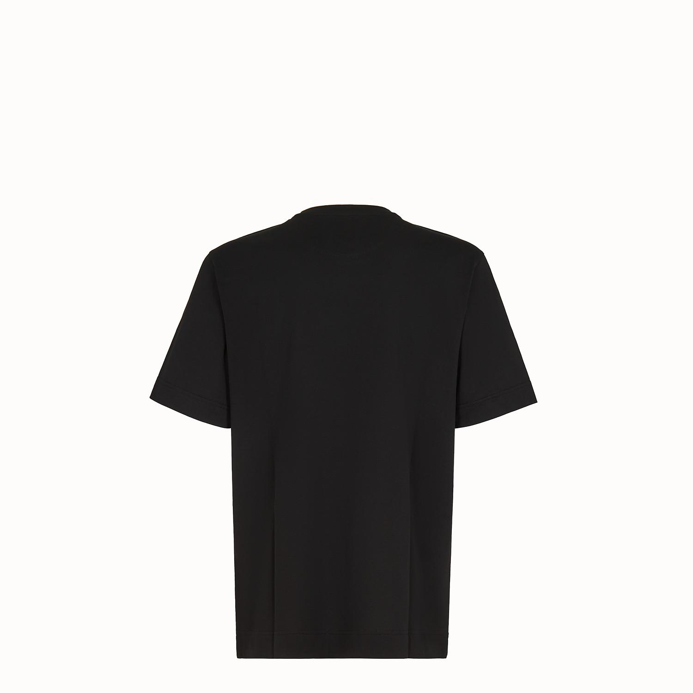 FENDI T-SHIRT - Black cotton T-shirt - view 2 zoom