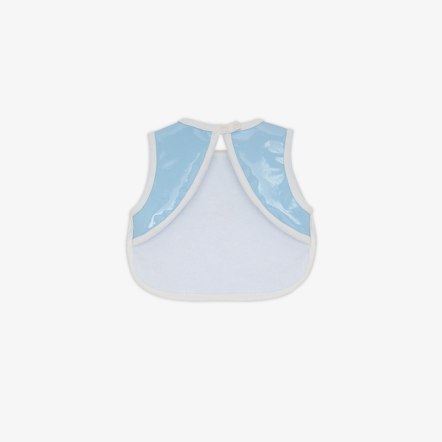 FENDI BIB - Light blue fabric bib - view 2 detail