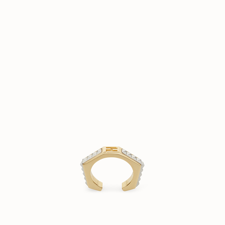 FENDI BAGUETTE RING - Baguette ring with micro-studs - view 1 detail