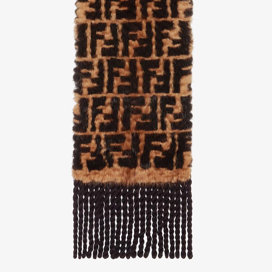 FENDI SCARF - Multicolour mink scarf - view 1 detail