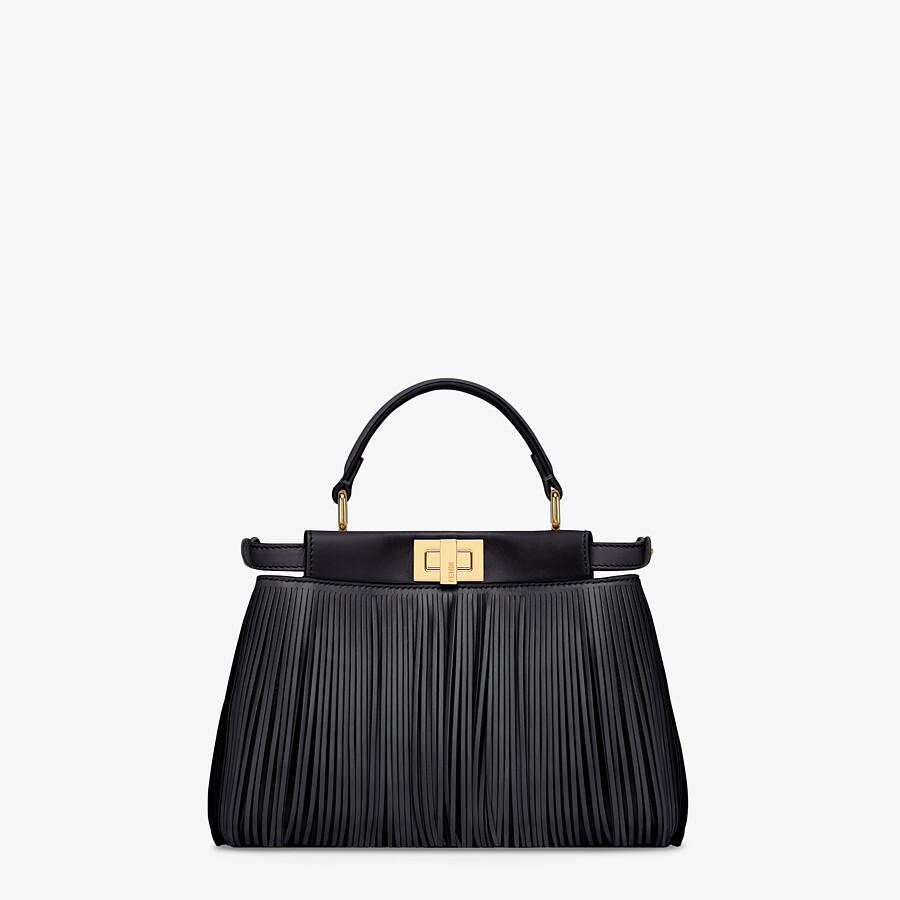 FENDI PEEKABOO ICONIC MINI - Black leather bag with fringes - view 4 detail