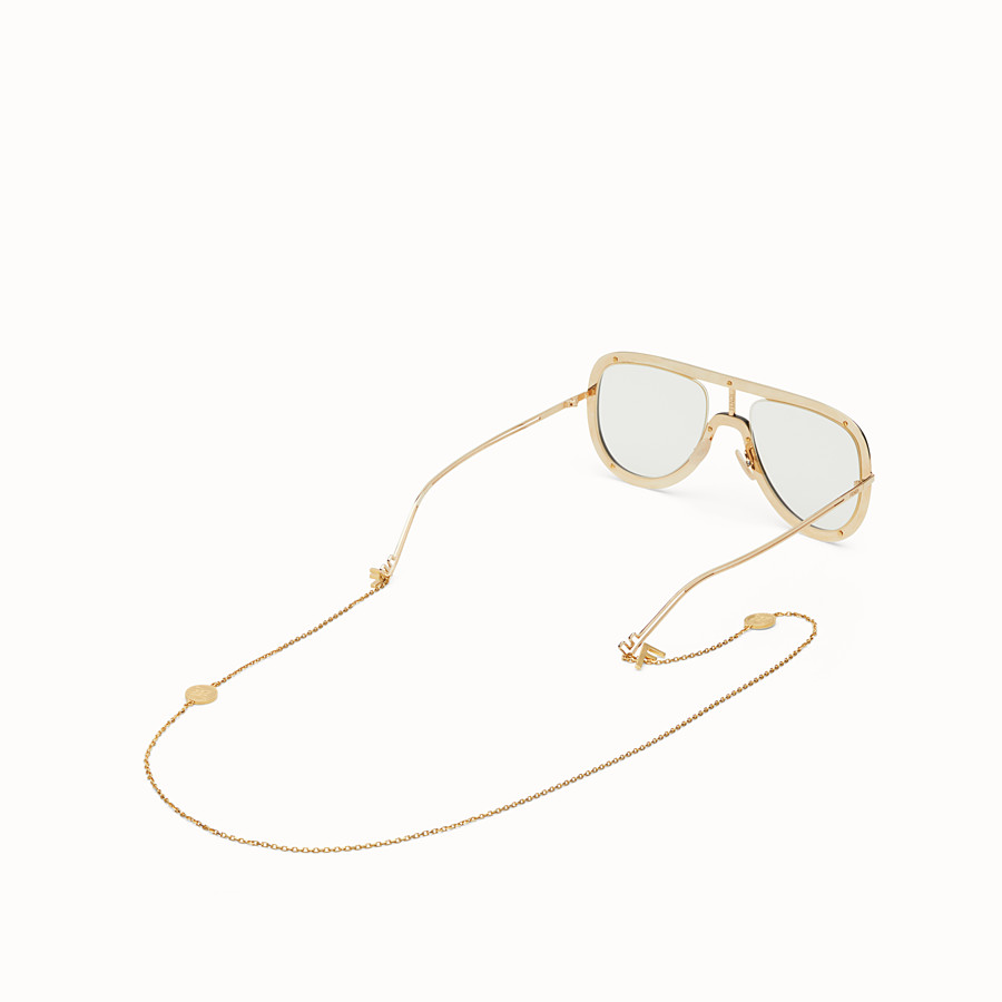 FENDI EYEGLASS CHAIN - Golden metal chain - view 2 detail