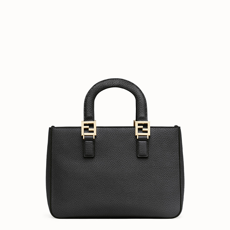FENDI FF TOTE SMALL - Black leather bag - view 4 detail