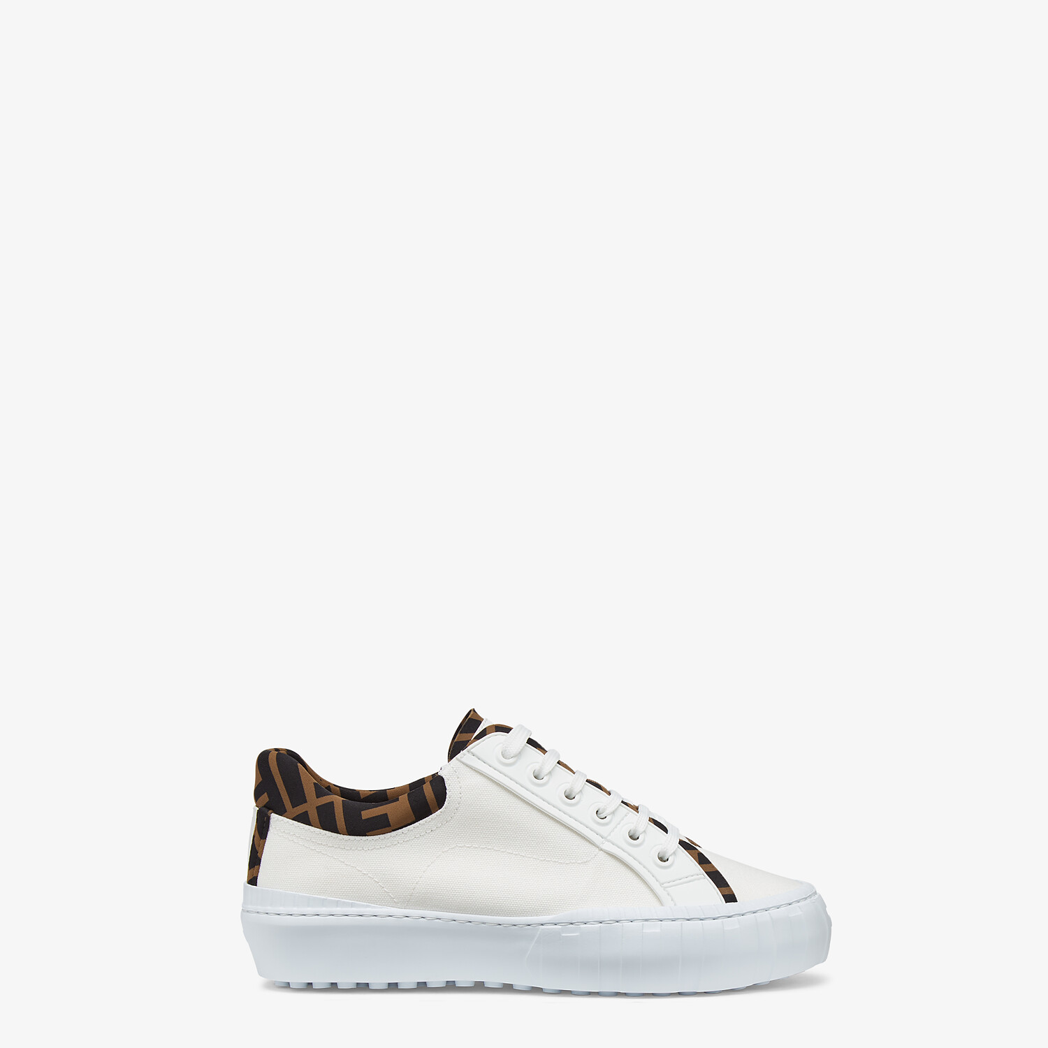FENDI FENDI FORCE - White canvas and TPU low-tops - view 1 detail