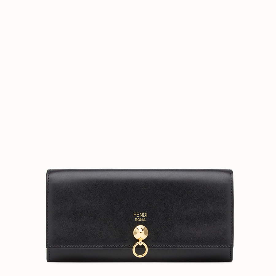 FENDI CONTINENTAL WITH CHAIN - Wallet in black leather - view 1 detail