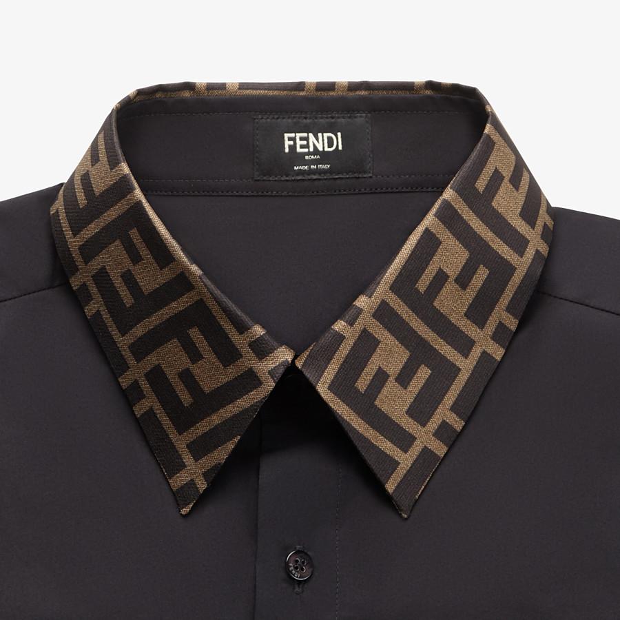 FENDI シャツ - ブラックコットン シャツ - view 3 detail