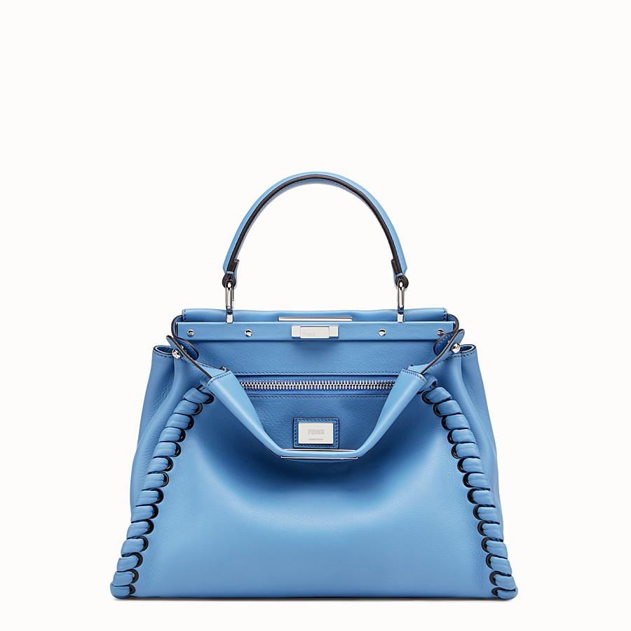 FENDI PEEKABOO REGULAR - Light blue leather bag - view 1 detail