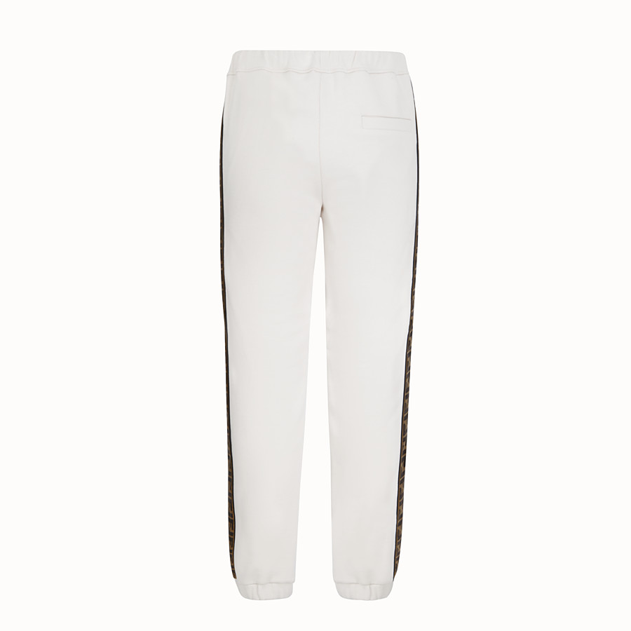 FENDI TROUSERS - Grey jersey trousers - view 2 detail