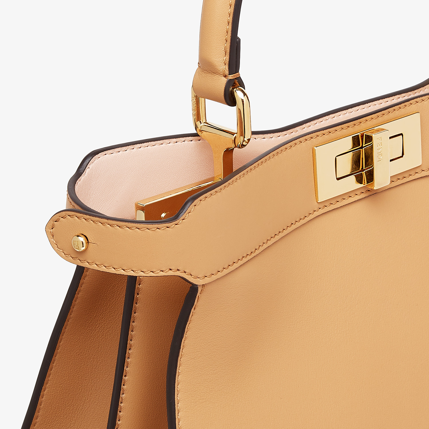 FENDI PEEKABOO ISEEU MEDIUM - Beige leather bag - view 7 detail