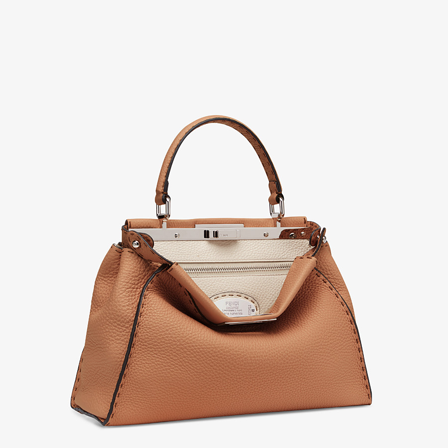 FENDI PEEKABOO ICONIC MEDIUM - Brown leather bag - view 2 detail