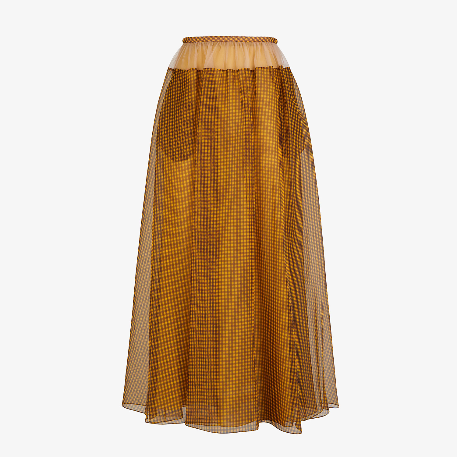 FENDI SKIRT - Organza Vichy skirt - view 1 detail