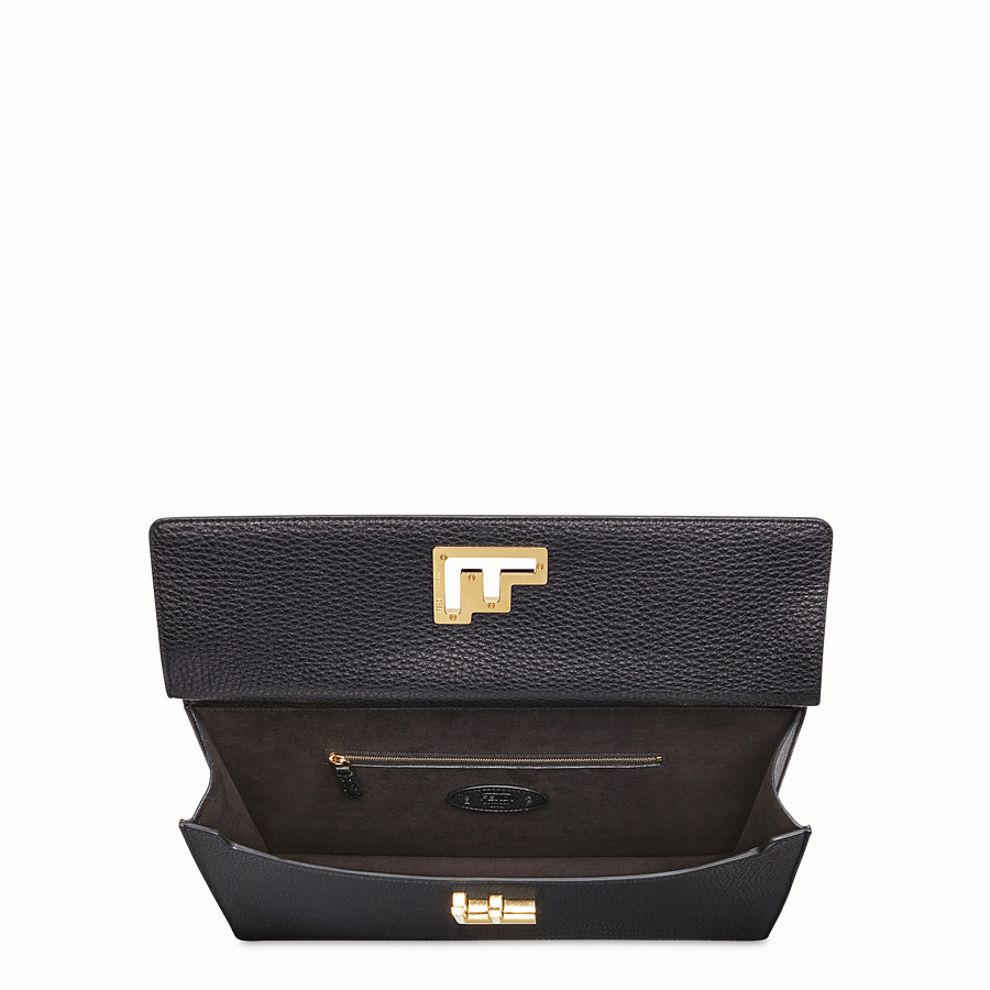 FENDI BUSINESS BAG - Black leather bag - view 4 detail