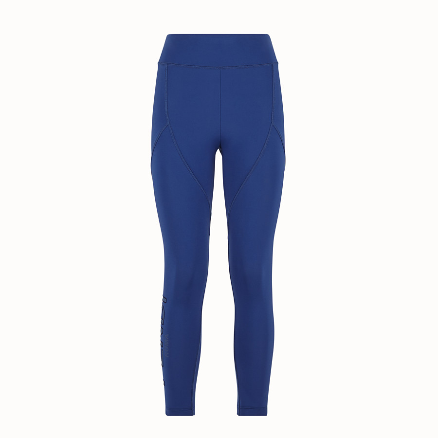 FENDI LEGGINGS - Blue tech fabric pants - view 1 detail