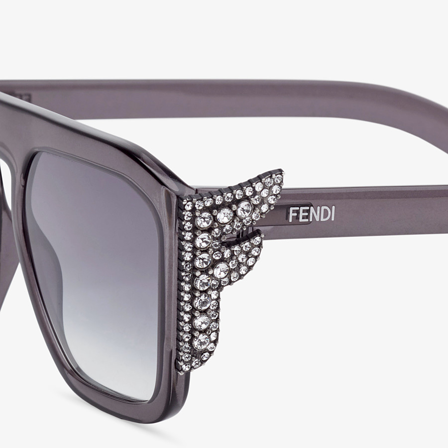 FENDI FFREEDOM - Gray sunglasses - view 3 detail