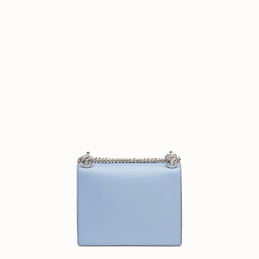 FENDI KAN I SMALL - Light blue leather mini-bag - view 3 detail