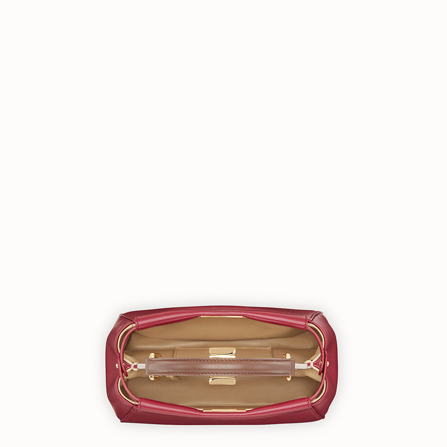 FENDI PEEKABOO MINI - Red leather bag - view 4 detail