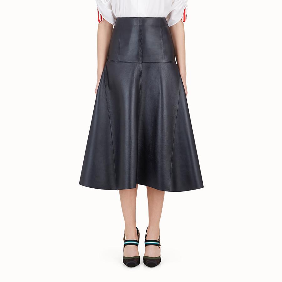 FENDI 半截裙 - 藍色軟皮半截裙 - view 1 detail