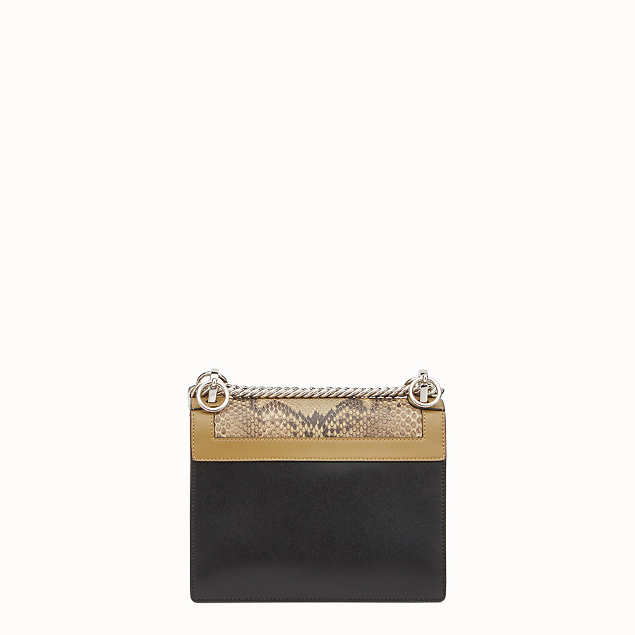 FENDI KAN I SMALL - Mini bag in two-tone leather and python - view 3 detail