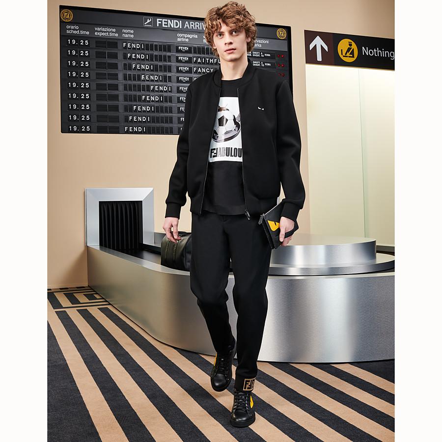 FENDI CAMISETA - Camiseta de algodón negra - view 4 detail