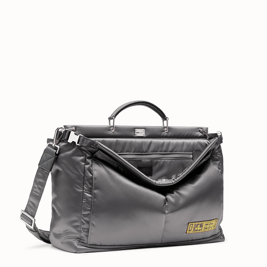 FENDI PEEKABOO FENDI AND PORTER MEDIUM - Silver-color nylon bag - view 2 detail