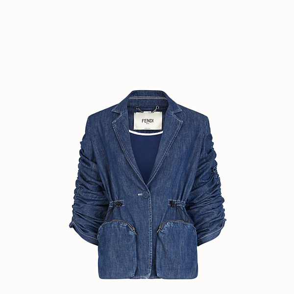 FENDI JACKET - Blue cotton jacket - view 1 small thumbnail