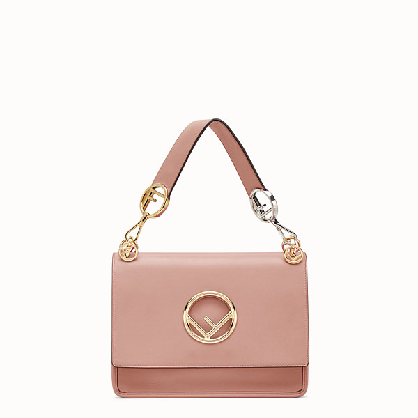 FENDI KAN I F - Pink leather bag - view 1 small thumbnail