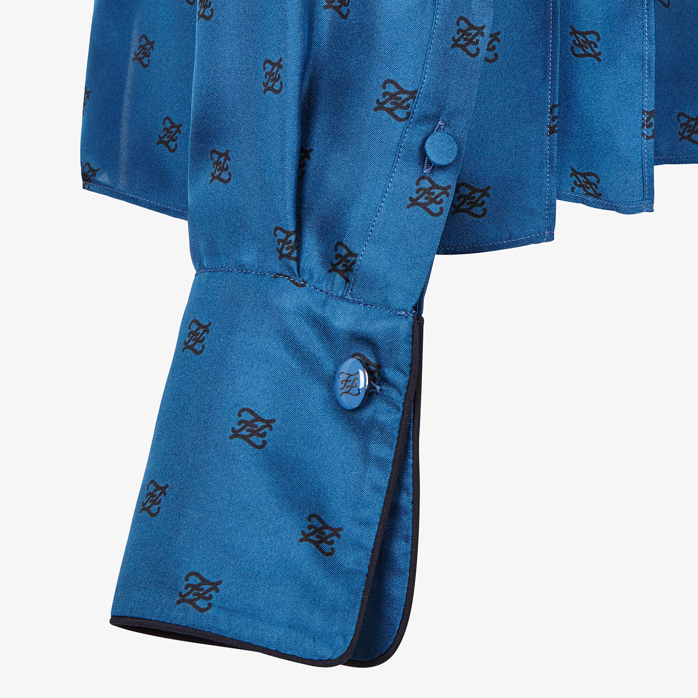 FENDI SHIRT - Blue silk blouse - view 3 detail