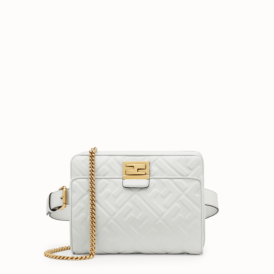 FENDI UPSIDE DOWN - White leather bag - view 1 detail