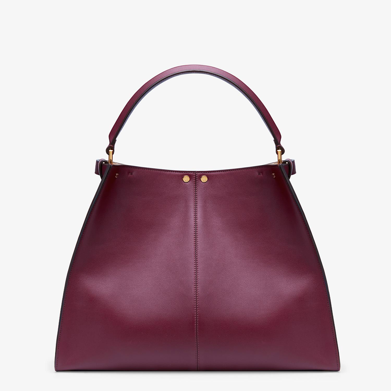 FENDI PEEKABOO X-LITE LARGE - Burgundy leather bag - view 5 detail