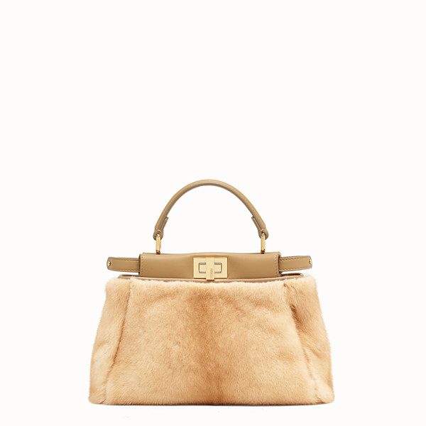 FENDI PEEKABOO ICONIC MINI - Natural mink bag - view 1 small thumbnail