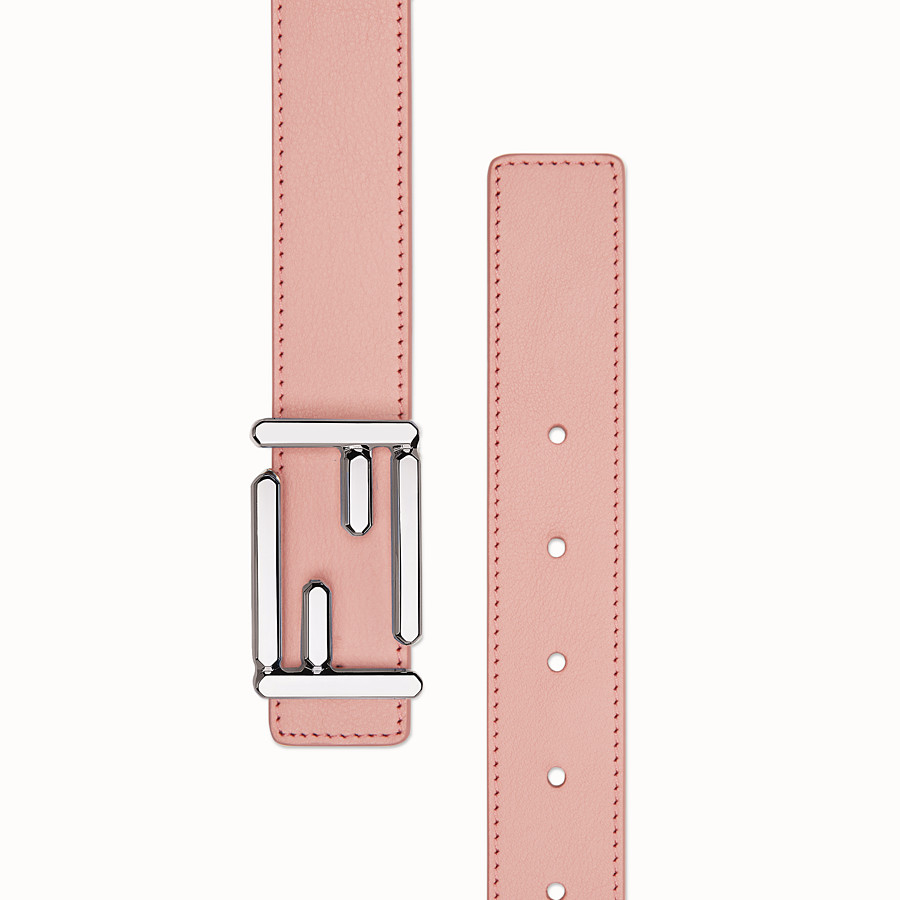 FENDI BAGUETTE BELT - in pink calfskin - view 2 detail