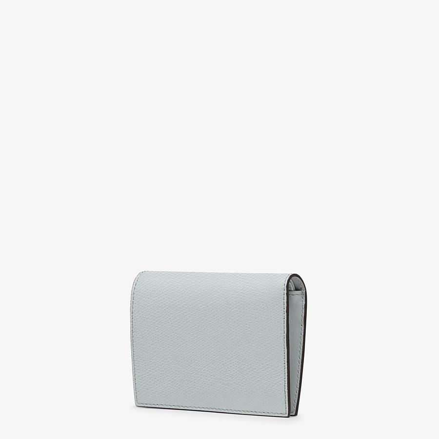 FENDI 二つ折り財布 - グレーレザー コンパクト財布 - view 2 detail