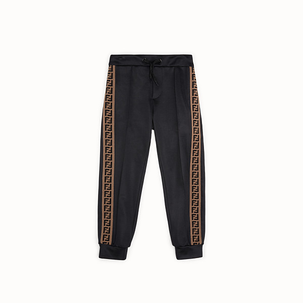 FENDI TROUSERS - Black tech fabric jogging trousers - view 1 small thumbnail