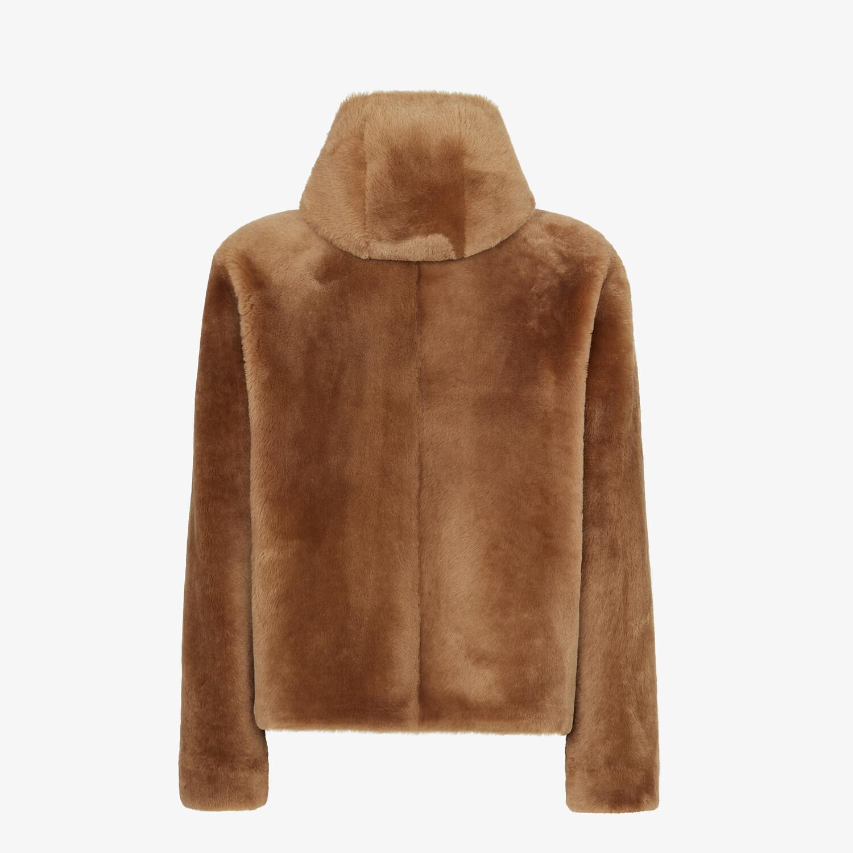 FENDI BLOUSON JACKET - Brown shearling jacket - view 2 detail