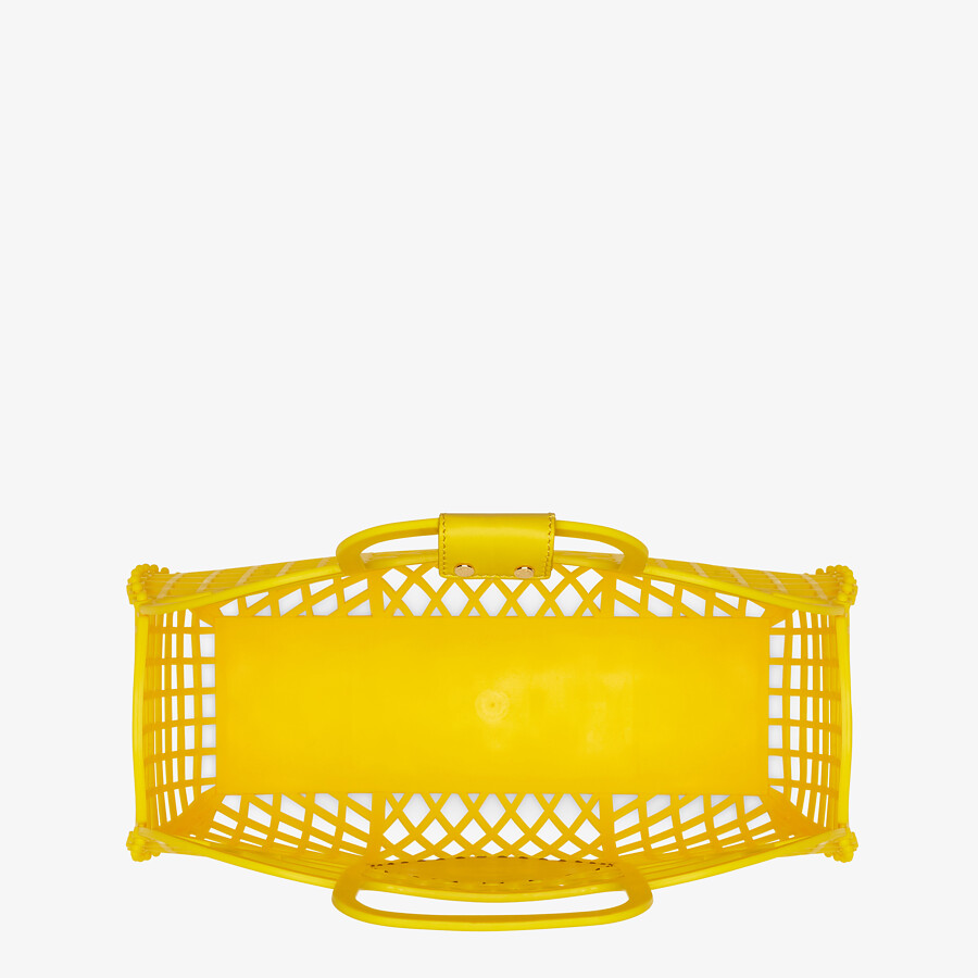 FENDI FENDI BASKET MEDIUM - Yellow recycled plastic mini-bag - view 5 detail