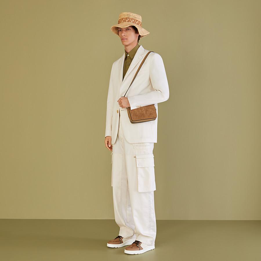 FENDI JACKET - White cotton blazer - view 6 detail