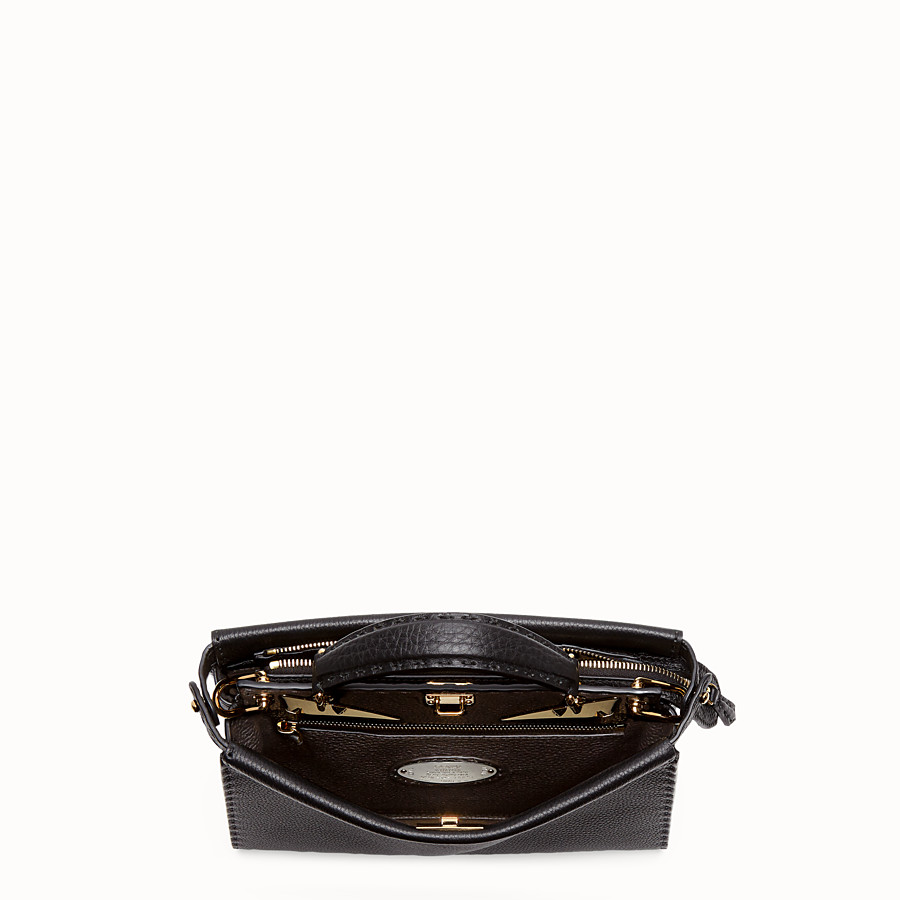 FENDI PEEKABOO ICONIC FIT MINI - Tasche aus Leder in Schwarz - view 4 detail