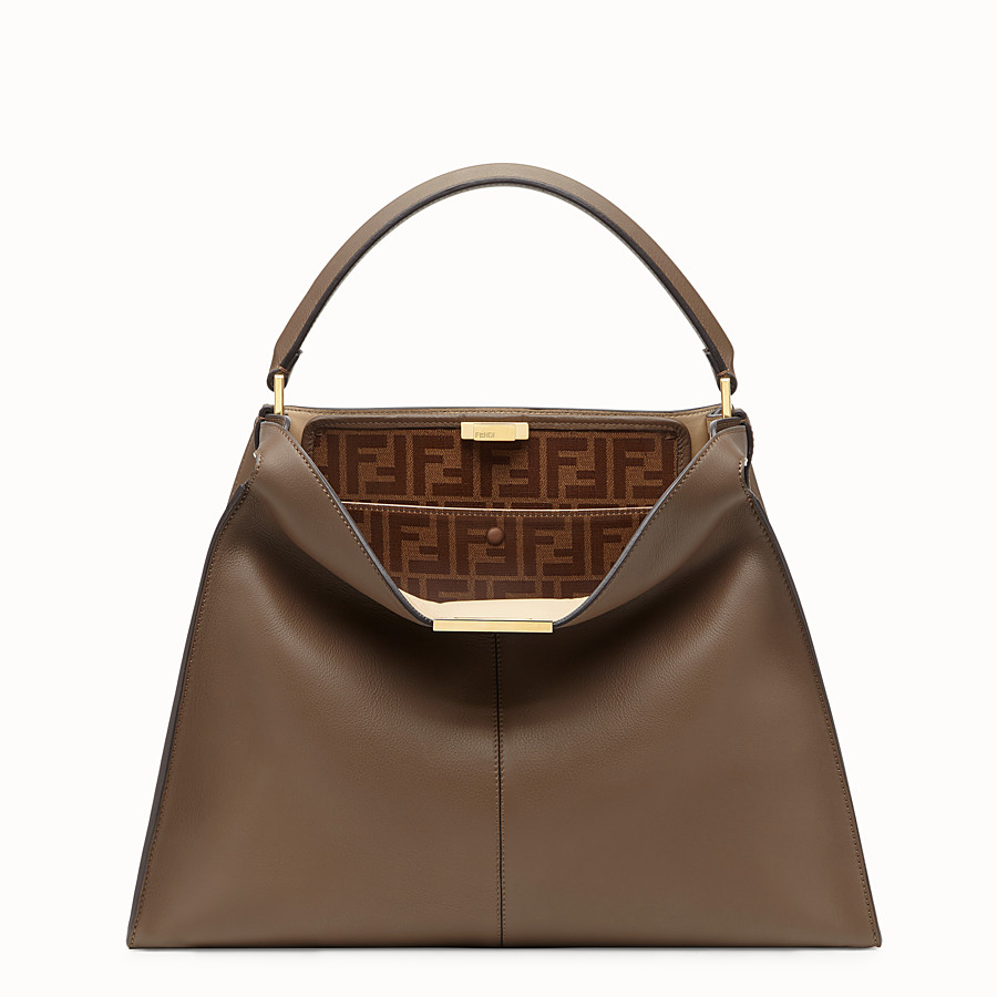 FENDI PEEKABOO X-LITE - Sac en cuir marron - view 3 detail