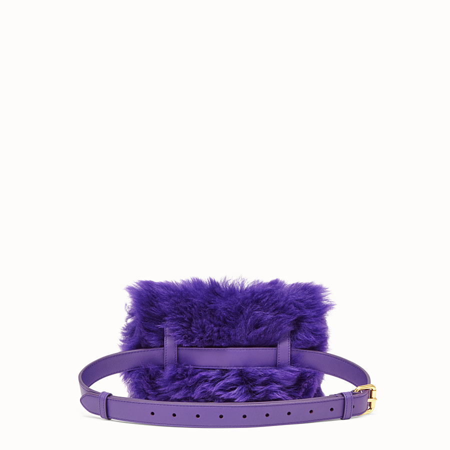 FENDI BELT BAG - Mini bag in purple sheepskin - view 3 detail
