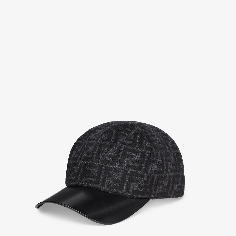 FENDI HAT - Gray wool baseball cap - view 1 detail