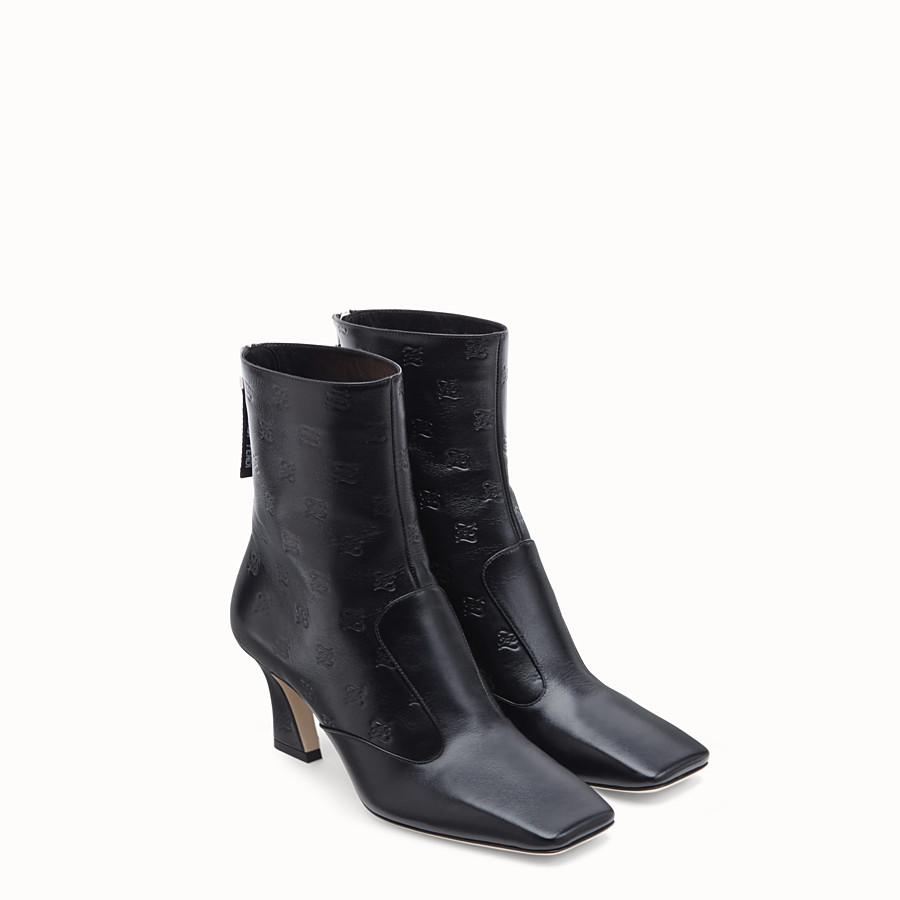 FENDI 靴子 - 黑色皮革短靴 - view 4 detail
