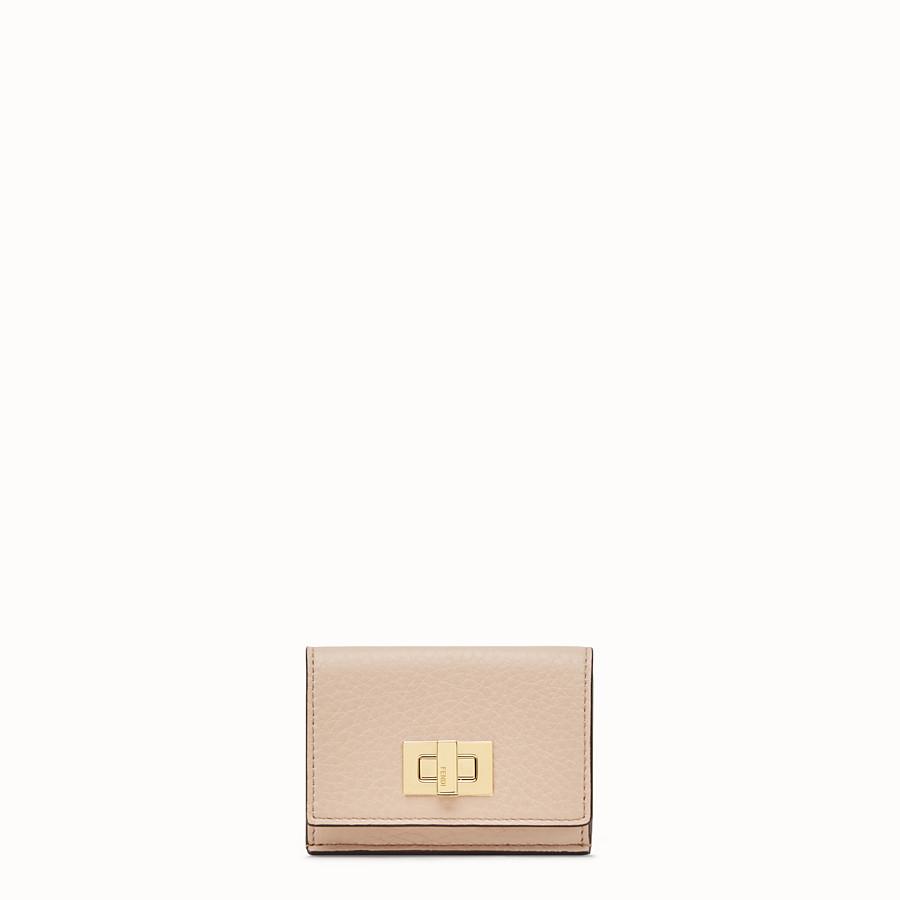FENDI マイクロ 三つ折り財布 - ピンクレザー 財布 - view 1 detail